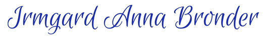 Homepage Irmgard Anna Bronder neu